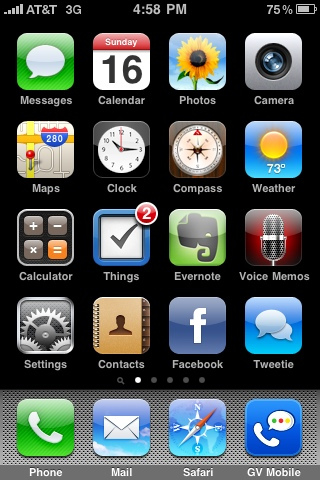 Things for iPhone - Home Screen Badge